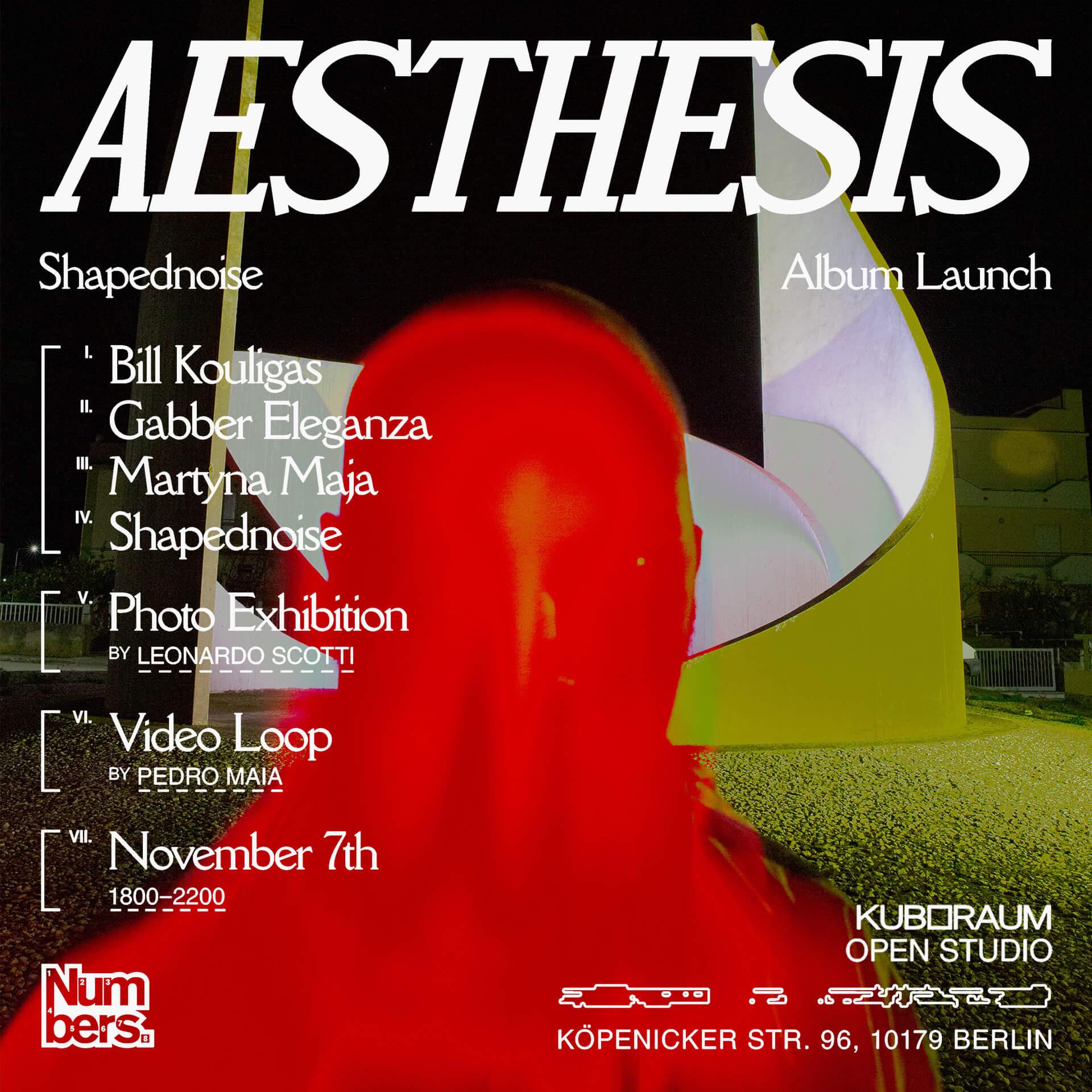 SHAPEDNOISE 'AESTHESIS' ALBUM LAUNCH